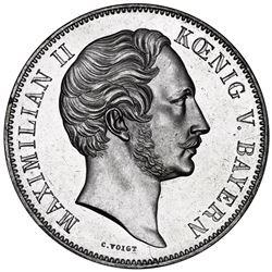 Bavaria (German States), 2 taler, 1854, Maximilian II, opening of the Munich Glass Palace, rare, NGC