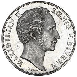 Bavaria (German States), 2 gulden, 1854, Maximilian II, NGC MS 63.