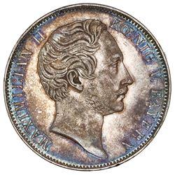 Bavaria (German States), 2 taler, 1855, Maximilian II.