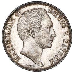 Bavaria (German States), 2 taler, 1856, Maximilian II, NGC MS 60.