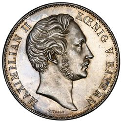 Bavaria (German States), 2 taler, 1856, Maximilian II, monument to Maximilian II, NGC UNC details /