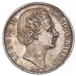 Bavaria (German States), taler, 1871, Ludwig II, NGC UNC details / obverse rim filed.
