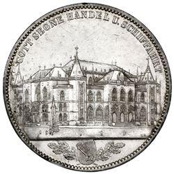 Bremen (German States), taler, 1864-B, opening of the stock exchange.