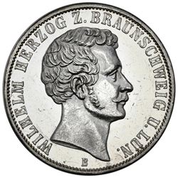 Brunswick (German States), taler, 1865-B, Wilhelm I, NGC MS 60 PL.
