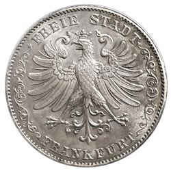 Frankfurt am Main (German States), 2 taler / 3-1/2 gulden, 1843, rare, PCGS MS64, finest known in PC
