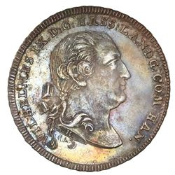Hesse-Cassel (German States), mining taler, 1798-FH, Wilhelm IX, NGC MS 62, finest known in NGC cens