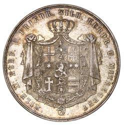 Hesse-Cassel (German States), 2 taler, 1840, Wilhelm II, NGC AU 50.