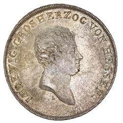 Hesse-Darmstadt (German States), taler, 1809-L, Ludwig I, NGC MS 63.