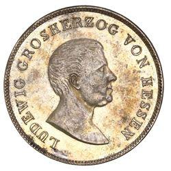 Hesse-Darmstadt (German States), taler, 1825, Ludwig I, NGC AU 58.