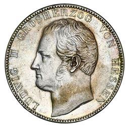 Hesse-Darmstadt (German States), 2 taler, 1841, Ludwig II, ex-Green.
