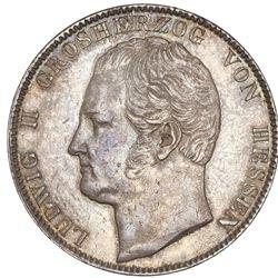 Hesse-Darmstadt (German States), 2 taler, 1844, Ludwig II.