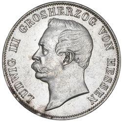 Hesse-Darmstadt (German States), taler, 1868, Ludwig III.