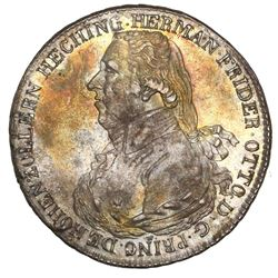 Hohenzollern-Hechingen (German States), taler, 1804, Herman Friedrich Otto, NGC XF 45.