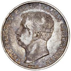 Hohenzollern-Sigmaringen (German States), 2 taler, 1844, Carl, NGC XF 40.