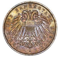 Lubeck (German States), 5 mark, 1904-A, NGC MS 64.