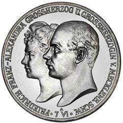 Mecklenburg-Schwerin (German States), proof 5 mark, 1904-A, Friedrich Franz IV, marriage of the Gran