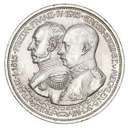Mecklenburg-Schwerin (German States), 5 mark, 1915-A, Friedrich Franz II, 100th anniversary of the G