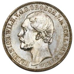Mecklenburg-Strelitz (German States), taler, 1870-A, Friedrich Wilhelm, NGC MS 62.