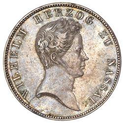 Nassau (German States), taler, 1836, Wilhelm, ex-Gibbs.