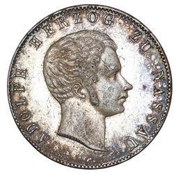 Nassau (German States), 2 taler, 1840, Adolph.