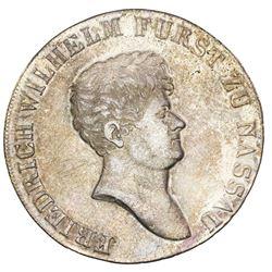 Nassau-Weilburg (German States), taler, 1811-L/CT, Friedrich Wilhelm, NGC AU details / cleaned.