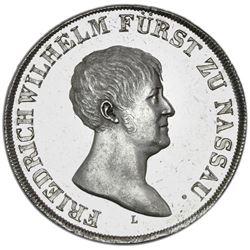 Nassau-Weilburg (German States), taler, 1812-L/CT, Friedrich Wilhelm, 1813/1815 old bust obverse wit