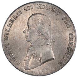 Prussia (German States), taler, Friedrich Wilhelm III, 1799-A, PCGS MS64.