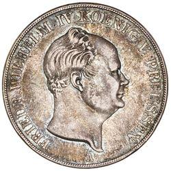 Prussia (German States), 2 taler, 1854-A, Friedrich Wilhelm IV.