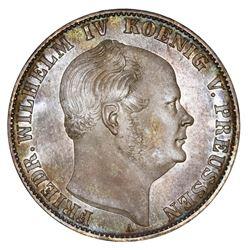 Prussia (German States), proof taler, 1861-A, Friedrich Wilhelm IV, NGC PF 63.