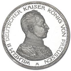 Prussia (German States), proof 5 mark, 1913-A, Wilhelm II, NGC PF 64 Ultra Cameo.
