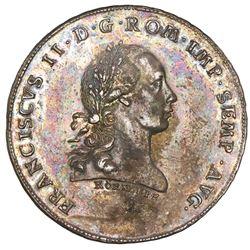 Regensburg (German States), taler, 1801-1802-Z, Francis II, rare, NGC AU 55, ex-Lee.