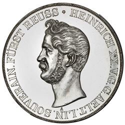 Reuss-Obergreiz (German States), 2 taler, 1841-A, Heinrich XX, NGC MS 61, finest known in NGC census