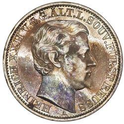 Reuss-Obergreiz (German States), taler, 1868-A, Heinrich XXII.