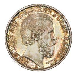 Reuss-Schleiz (German States), taler, 1868-A, Heinrich XIV, ex-Collier.