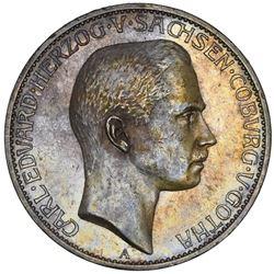 Saxe-Coburg-Gotha (German States), 5 mark, 1907-A, Carl Eduard, rare, NGC AU 58.