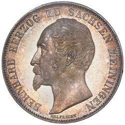 Saxe-Meiningen (German States), 2 gulden, 1854, Bernhard, NGC MS 61.