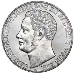 Saxe-Weimar-Eisenach (German States), 2 taler, 1848, Carl Friedrich, NGC UNC details / harshly clean