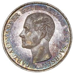 Saxe-Weimar-Eisenach (German States), taler, 1866-A, Carl Alexander, NGC MS 62.