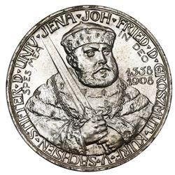 Saxe-Weimar-Eisenach (German States), 5 mark, 1908, Wilhelm Ernst, 350th anniversary of the Universi