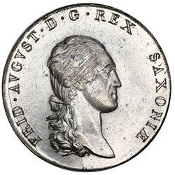 Saxony (German States), taler, 1807-SGH, Friedrich August, NGC MS 64.