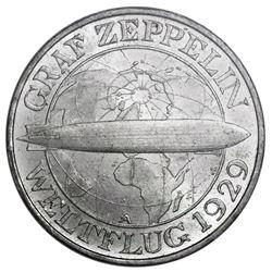Berlin, Germany (Weimar Republic), 3 mark, 1930-A, Zeppelin, PCGS MS64.