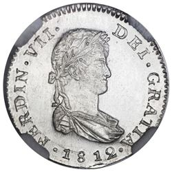 Guatemala, bust 1 real, Ferdinand VII, 1812M, NGC MS 64, finest known in NGC census, ex-Stuart.