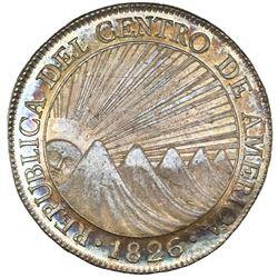 Guatemala (Central American Republic), 8 reales, 1826M, CRES/CCA, NGC AU 58+.