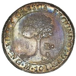 Guatemala (Central American Republic), 8 reales, 1829M, NGC AU 55.