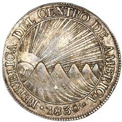 Guatemala (Central American Republic), 8 reales, 1830M, rare, NGC AU 53.