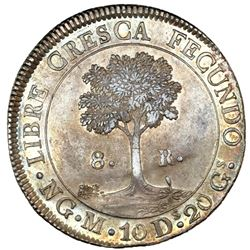 Guatemala (Central American Republic), 8 reales, 1836M, NGC MS 61.