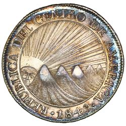 Guatemala (Central American Republic), 8 reales, 1840/37MA, NGC AU 58.