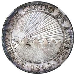 Guatemala (Central American Republic), 8 reales, 1840/39MA/BA, NGC AU 55.