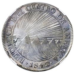 Guatemala (Central American Republic), 8 reales, 1842/0MA, NGC XF 45.