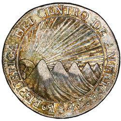 Guatemala (Central American Republic), 8 reales, 1842MA, NGC AU 53.